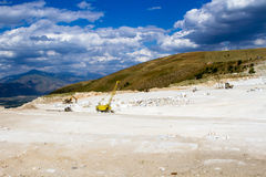 Marble quarry, stone texture, Stone Quarrying Royalty Free Stock Images
