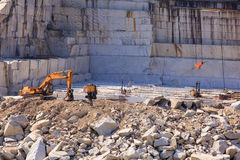 Marble quarry Royalty Free Stock Photography
