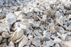 Marble quarry, white marble Royalty Free Stock Photos