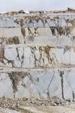 Marble quarry, white marble Stock Photos