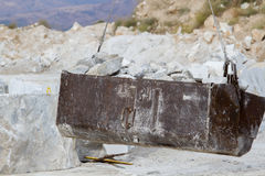 Marble quarry, white marble Stock Images