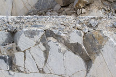 Marble quarry, white marble Stock Image