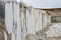 Marble quarry, white marble Royalty Free Stock Photography