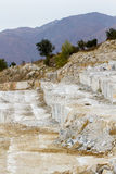 Marble quarry, white marble Stock Photo
