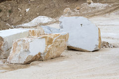 Marble quarry, white marble Royalty Free Stock Photo