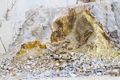 Marble quarry, white marble Royalty Free Stock Image