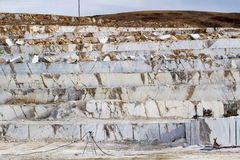 Marble quarry, white marble Stock Photography