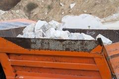 Marble quarry, white marble Stock Photo