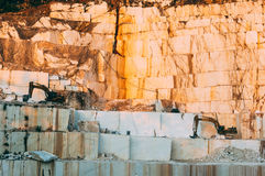 Marble quarrying Royalty Free Stock Photos