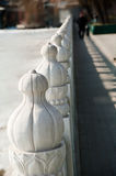 The marble railing Stock Images