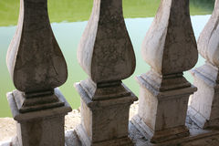 Marble railing. Located in Palazzo del Te, Mantua Royalty Free Stock Images