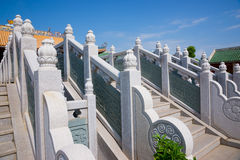 Marble railings and steps Royalty Free Stock Photo