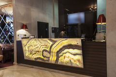Marble reception desk royalty free stock photos