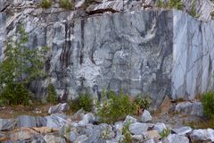 A marble rock, beautiful texture Royalty Free Stock Images