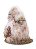 Marble rock on white background Stock Photography