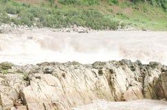 Marble rocks near Dhuandhar falls, Jabalpur Stock Image