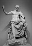 Marble roman statue emperor Nerva Stock Photos