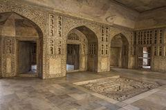 Marble Room of Maharaja in Agra Fort India Royalty Free Stock Images
