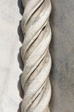 Marble Rope Molding. A finely carved `rope twist molding` in Marble from the Duomo di Como in Como, Italy Stock Image