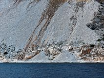 Scree Slope Greek Island Marble Quarry Royalty Free Stock Image