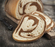 Marble rye bread stock photography