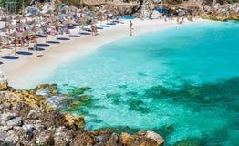 Marble (Saliara) beach Stock Photography