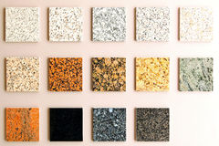 Marble samples Stock Photography