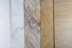 Marble samples Stock Image