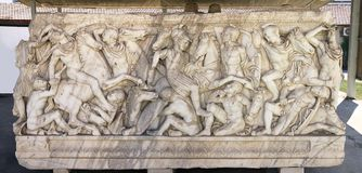 Marble sarcophagus Royalty Free Stock Photos