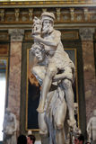 Marble sculpture Aeneas, Anchises, and Ascanius by Gian Lorenzo Bernini  in Galleria Borghese, Rome Royalty Free Stock Images
