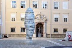 Marble sculpture Awilda in Dietrichsruh in complex of University of Salzburg. Austria stock image