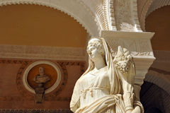 Marble sculpture of Ceres, Palace House of Pilate, Sevilla, Spain Stock Image