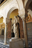 Marble sculpture of Copa Syrisca, Palace House of Pilate, Sevilla, Spain Stock Image