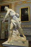 Marble sculpture David by Gian Lorenzo Bernini in Galleria Borghese stock image