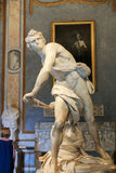 Marble sculpture David  by Gian Lorenzo Bernini  in Galleria Borghese, Rome Stock Photo