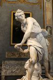 Marble sculpture David  by Gian Lorenzo Bernini  in Galleria Borghese, Rome,. Italy Stock Images