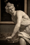 Marble sculpture David by Gian Lorenzo Bernini. In Galleria Borghese, Rome, Italy stock photos