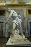 Marble sculpture David by Gian Lorenzo Bernini in Galleria Borghese. Rome Italy Stock Image