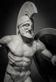 Marble sculpture of greek warrior Royalty Free Stock Photo