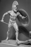 Marble sculpture of greek warrior Royalty Free Stock Photos
