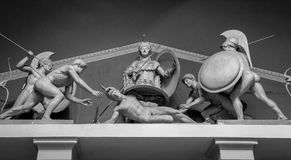 Marble sculpture of greek warriors Stock Photos