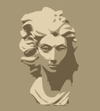 Marble sculpture of head of woman. Image is a marble sculpture of head of woman Vector Illustration