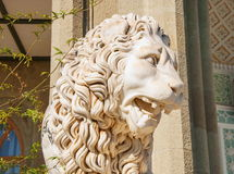 Marble sculpture of lion Stock Photography