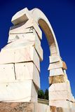 Marble sculpture of roman arch Stock Image
