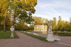 Marble Sculptures in the Catherine Park.Tsarskoye Selo Stock Photo