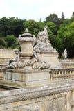 Marble sculptures, Jardins de la Fontaine, Nîmes, France Stock Images