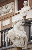 Marble sculptures in a neoclassical building Royalty Free Stock Photo