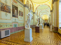 Marble sculptures in State Hermitage Stock Photo