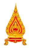 Marble sema. Gold and red marble sema, symbol of buddhism church Stock Photography