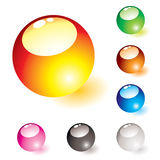 Marble shine glow Stock Images